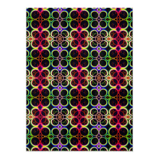 Bubble Rings Rainbow Holographic Effect Art Card