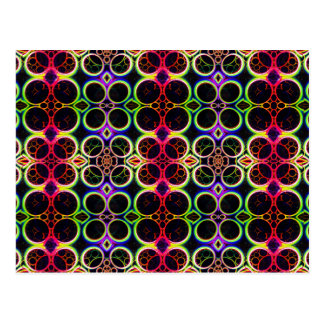 Bubble Rings Rainbow Holographic Effect Art Postcard