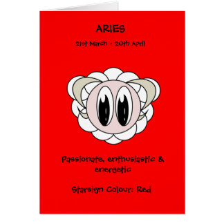 Bubble Scope Aries Greeting Card