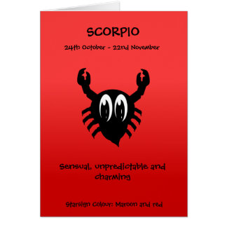 Bubble Scope Scorpio Card