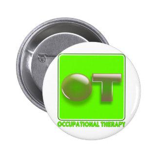 Bubble shirt design lime 6 cm round badge