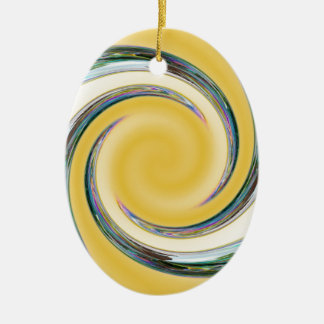 Bubble Spiral Ceramic Oval Decoration