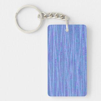 Bubble Stripes blue Acrylic Keychains