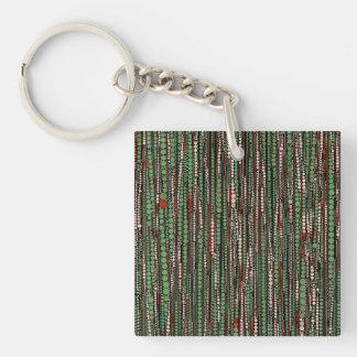 Bubble Stripes green Key Chains