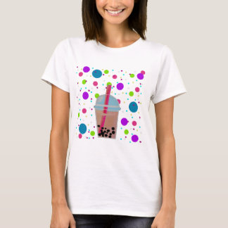 Bubble Tea - Bubble Background T-Shirt