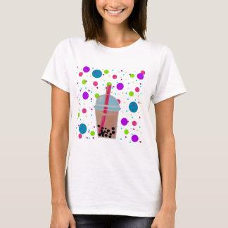 Bubble Tea - Bubble Background T-Shirt