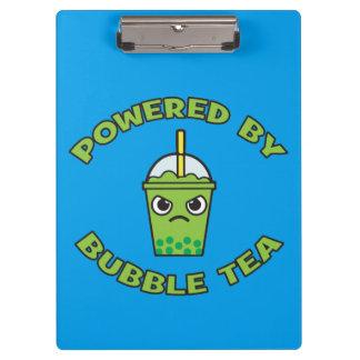 Bubble Tea, Powered By Bubble Tea - Cute Kawaii Clipboard