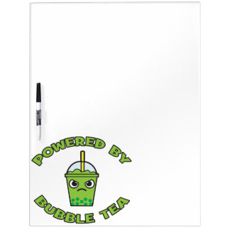 Bubble Tea, Powered By Bubble Tea - Cute Kawaii Dry-Erase Whiteboard