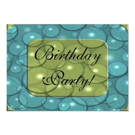 Bubble Trouble Birthday Party Invitation