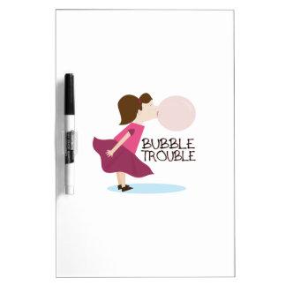 Bubble Trouble Dry Erase White Board