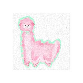 Bubblegum Alpaca Canvas Prints
