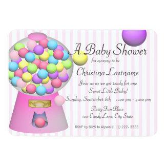Bubblegum Baby Shower 13 Cm X 18 Cm Invitation Card