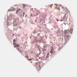 Bubblegum Diamond Heart Stickers