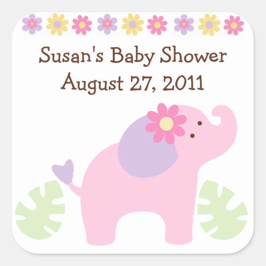 Bubblegum Jungle Elephant Stickers/Envelope Seals