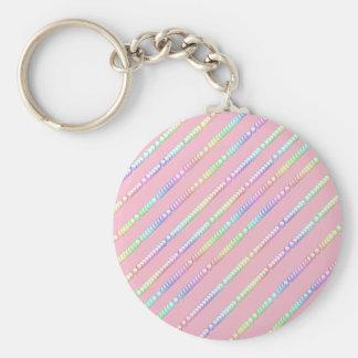 Bubblegum Basic Round Button Key Ring