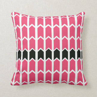 Bubblegum Pink Bordered Fence Panel Throw Pillow