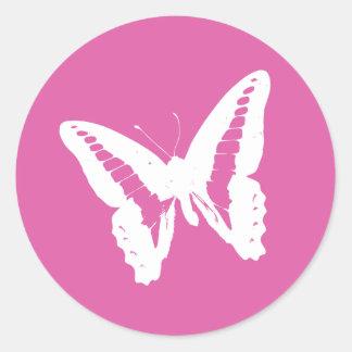 Bubblegum Pink Butterfly Envelope Sticker Seal