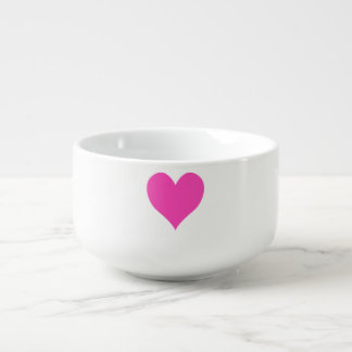 Bubblegum Pink Cute Heart Shape Soup Mug