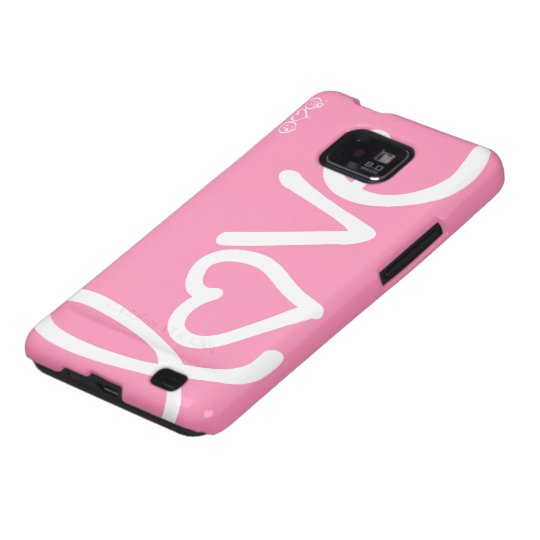 bubblegum pink - love samsung galaxy s2 cover