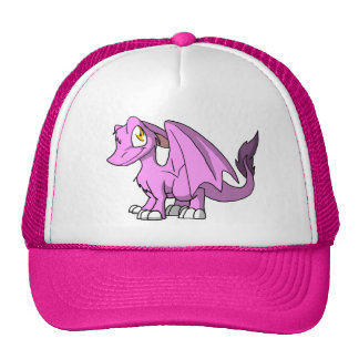 Bubblegum/Pink SD Furry Dragon Cap