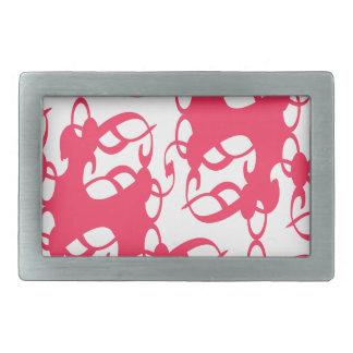 Bubblegum Pink Victorian Lace Rectangular Belt Buckle