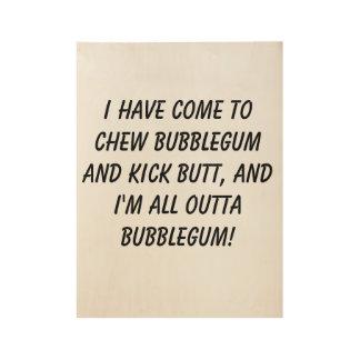 Bubblegum Wood Poster