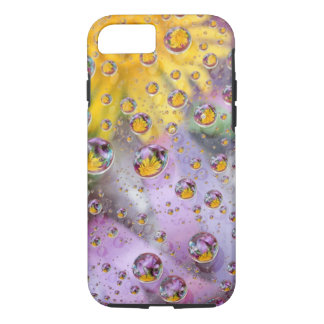 Bubbles abstract with flowers. Credit as: Nancy iPhone 7 Case
