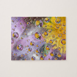 Bubbles abstract with flowers. Credit as: Nancy Jigsaw Puzzle
