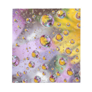 Bubbles abstract with flowers. Credit as: Nancy Notepads
