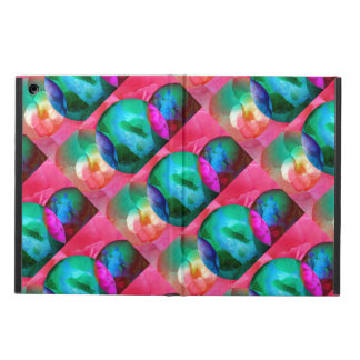 Bubbles and flowers iPad air case