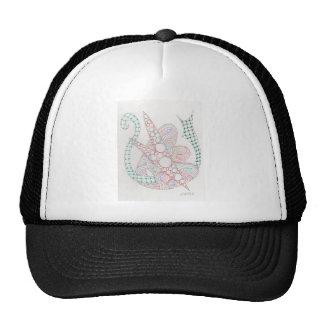 bubbles and swirls trucker hats