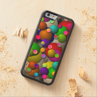 Bubbles Carved Maple iPhone 6 Bumper Case