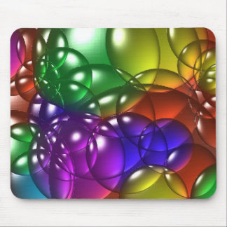 Bubbles colored mouse mat