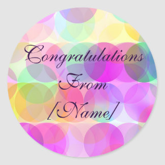 Bubbles - Congratulations Sticker