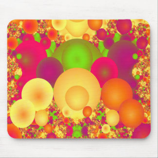 Bubbles Cool Colorful Abstract Fine Fractal Mouse Pad