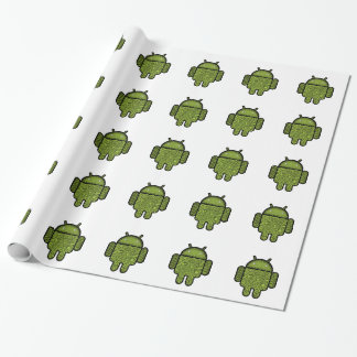 Bubbles Doodle Character for the Android™ robot Wrapping Paper