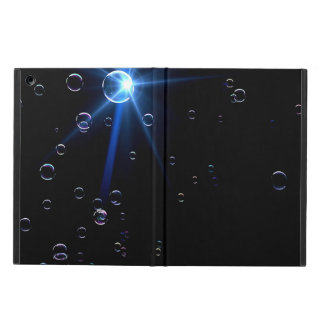 Bubbles Floating On Black Background Cover For iPad Air