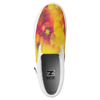 Bubbles & Flowers in Yellow Sneakers