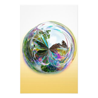 Bubbles Globe Personalised Stationery