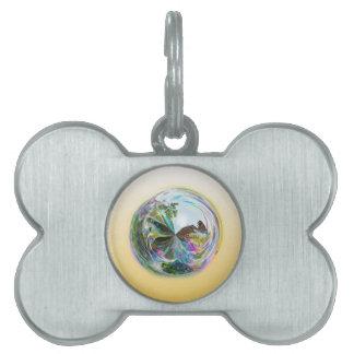 Bubbles Globe Pet Tag
