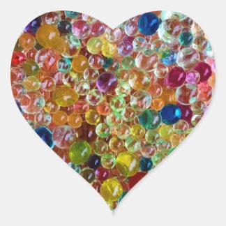 bubbles heart sticker