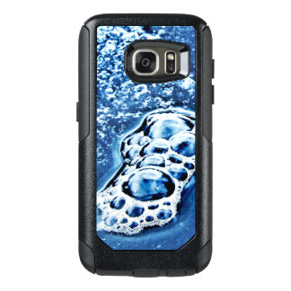 Bubbles Ice Water Blue Abstract Galaxy S7 Case