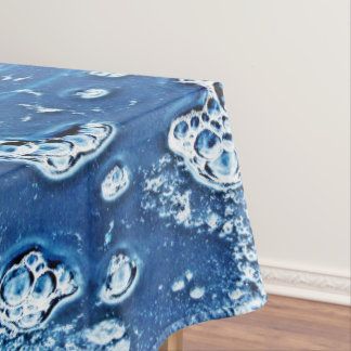 Bubbles Ice Water Blue Abstract Tablecloth