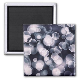 Bubbles illustration square magnet
