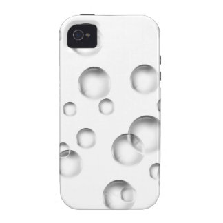 Bubbles in Black and White iPhone 4/4S Covers