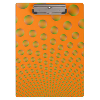 Bubbles in Orange and Green Clipboard