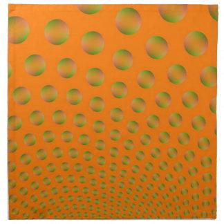 Bubbles in Orange and Green Napkins