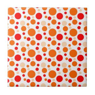Bubbles in Orange Small Square Tile