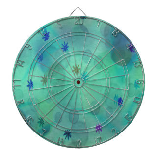 Bubbles in Teal Dartboards
