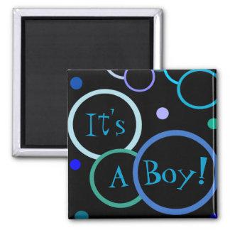 Bubbles It's a Boy Baby Shower Favors Magnets